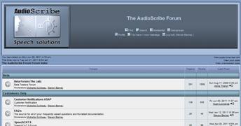 AudioScribe Forum